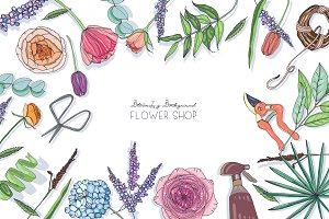 Flowers for advertising, floral shop
