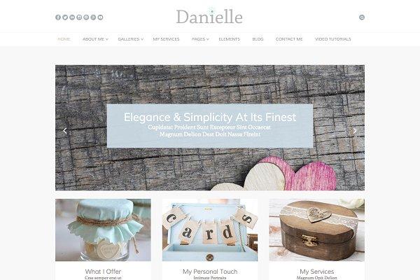 WordPress Wedding Themes: Premium Wedding Themes - Danielle: WordPress Wedding Theme