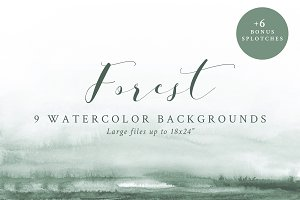 Watercolor Backgrounds - Forest