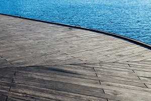 Wooden Pier with Water (Background)