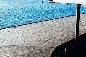 Wooden Pier in Sunlight