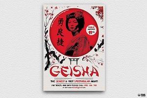 Geisha Night Flyer Template V4