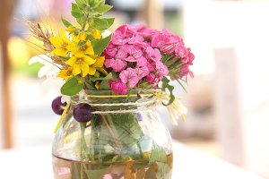 A small beautiful bouquet of summer