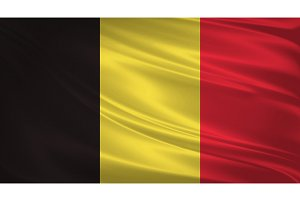 Belgium flag blowing in the wind