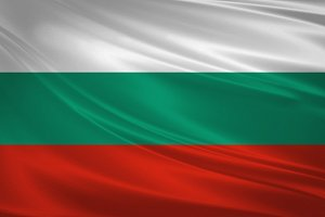 Bulgaria flag blowing in the wind.