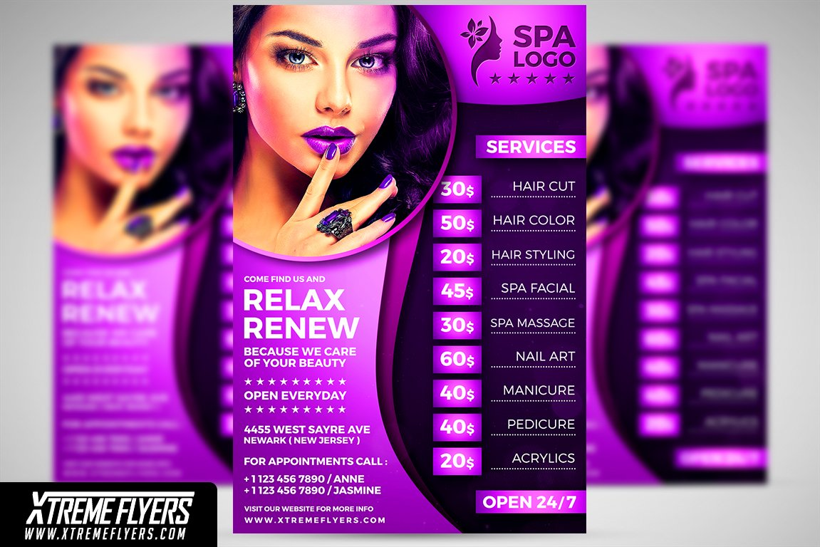 beauty salon flyer flyer templates creative market