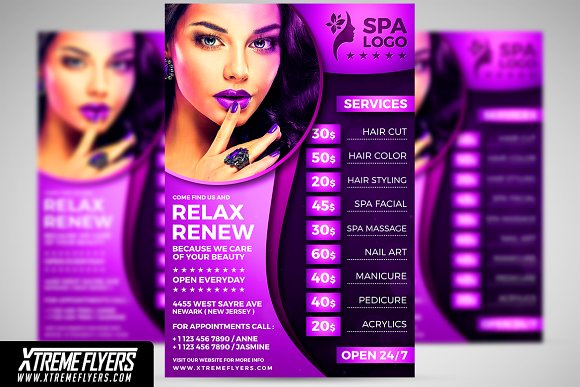 Salon Flyer Template Images Template Design Free Download