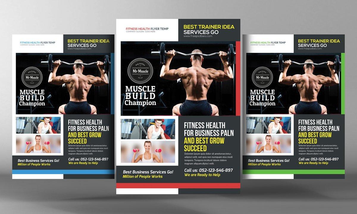 Fitness Gym Flyer Template ~ Flyer Templates ~ Creative Market