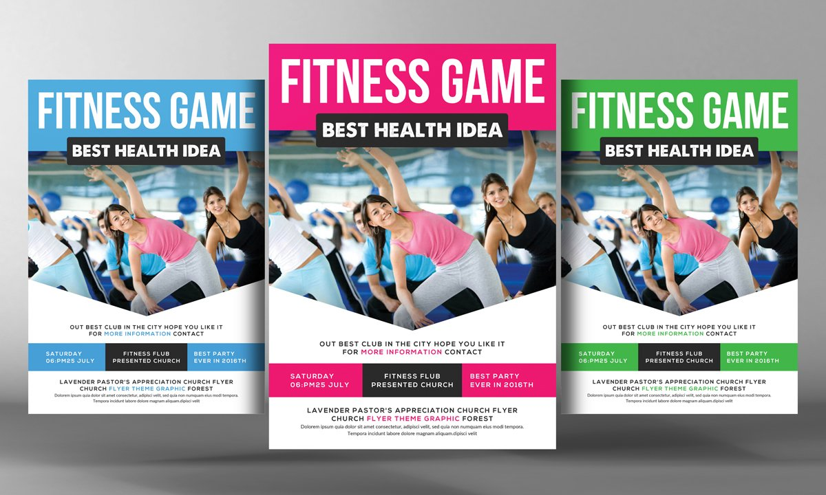 Health, Sports, Fitness Flyer ~ Flyer Templates ~ Creative Market