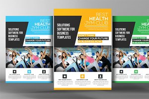Gym & Fitness Club Flyer Template