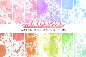 Paint Splatter digital paper