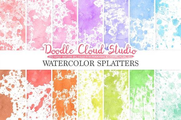 Paint Splatter Digital Paper
