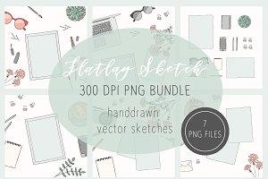 Flatlay/Scene Creator PNG Files