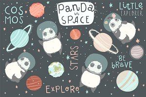 Panda in Space - kids set