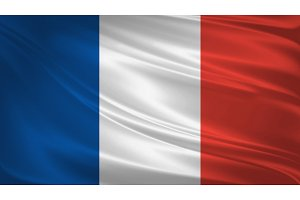 France flag blowing in the wind.
