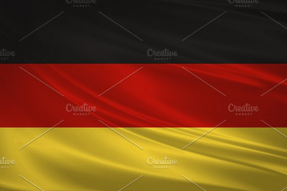 Germany Flag Blowing In The Wind