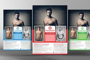 Corporate Fitness Flyer Template