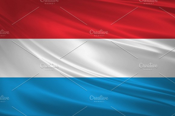 Luxembourg Flag Blowing In The Wind