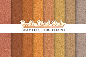 Seamless Corkboard digital paper