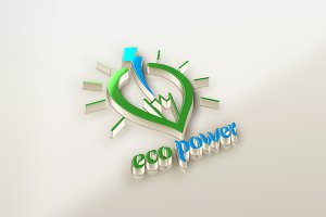 Eco Power New Energy Logo Template