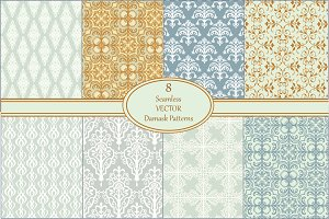 Seamless Vector Damask Patterns