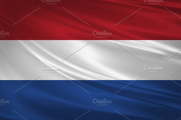 Netherlands Flag Blowing In The Wind