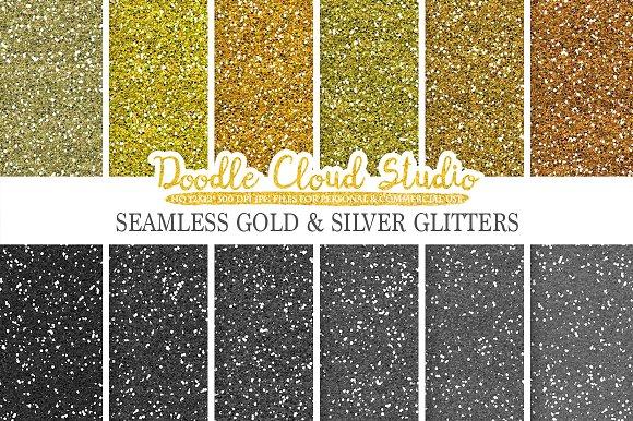 SEAMLESS Metallic Glitter