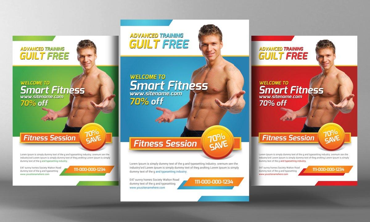 Fitness Flyer Template Social Media Templates Creative Market