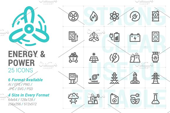 Energy Power Mini Icon