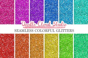 SEAMLESS Colorful Glitter