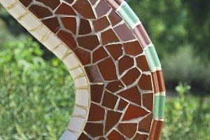 Mosaic detail, Park Guell, Barcelona
