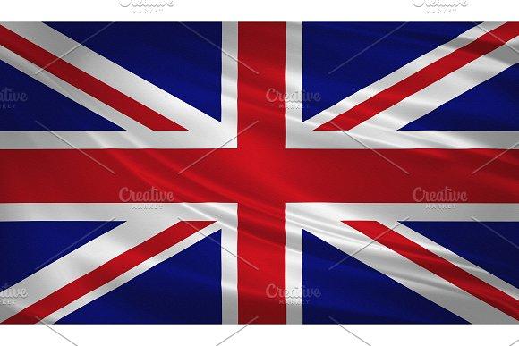 United Kingdom Flag Blowing