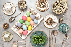 Easter decoration colorful eggs