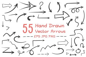 55 Hand Drawn Arrows