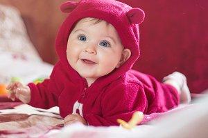 Portrait of a cute little happy chil