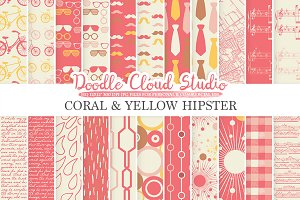 Coral and Yellow Hipster