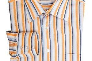 Folded striped men's shirt