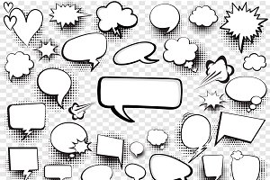 Speech Bubbles Comic Creator Set