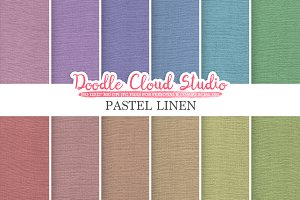 Pastel Linen Fabric digital paper