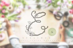 Efelious - floral monogram set