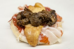 Spanish tapa of the Basque country