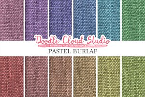 Pastel Burlap Fabric digital paper
