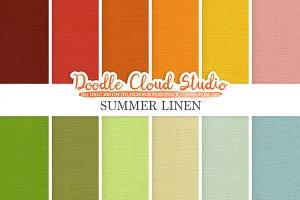 Colorful Summer Linen Fabric digital