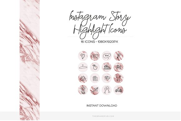 16 Instagram Stories Highlight Icons in Instagram Templates