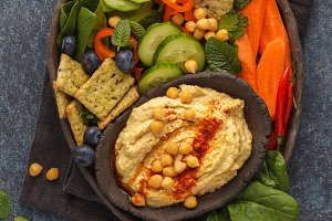 traditional hummus plate