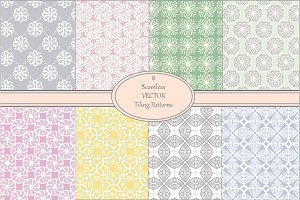 Seamless Pastel Vector Pattern Set