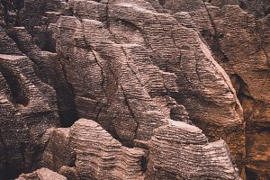 Pancake Rocks New Zealand (Vintage)