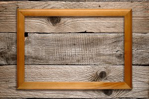 Wooden frame on wood