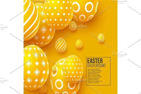 Abstract Easter Yellow Background