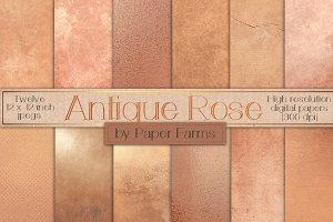 Antique Rose Gold Textures